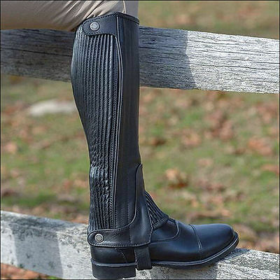Shires Equestrian Adult Leather Half Chaps Size Small (Brand New)