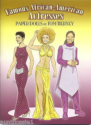 """Collectible Paper Dolls """"famous African-American Actresses"""" Tom Tierney  2008"""