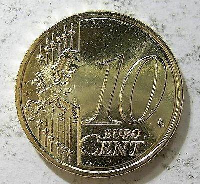 Greece 2007 10 Euro Cents.Choice Uncirculated.Mint Roll Coin(LotE114p)