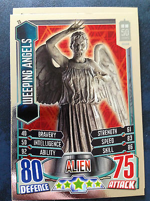 Doctor Who 50th Anniversary Attax Mirror Foil Card 20 Weeping Angels