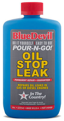 NEW BLUE DEVIL Oil Stop Leak & Conditioner (8 oz) BLU49499 SHIPS FAST!