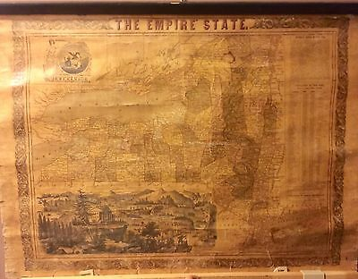 New York Wall Map, 1851. Ensign & Thayer