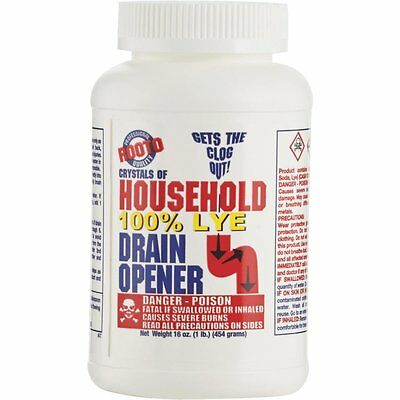 Rooto 1 Lb. Crystal Drain Cleaner With Lye