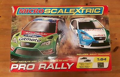 Micro Scalextric Pro Rally Ford Focus
