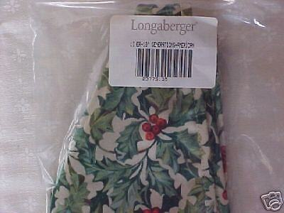 """Longaberger Christmas American Holly 10"""" GENERATIONS Basket Holiday Liner *New*"""