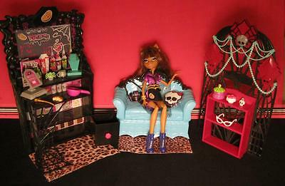 Monster High Coffin coffee shop Bean-Clawdeen Wolf Doll Playset COUCH FURNITURE