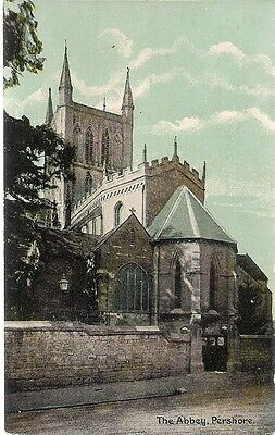 Very Nice Old Postcard - The Abbey - Pershore - Worcestershire C.1910