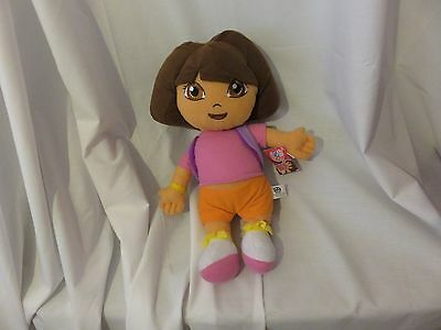 "15"" cute soft dora the explorer namco nick jr gosh plush doll new tag"