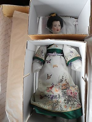 Danbury Mint doll: The Butterfly Maiden: MIB: 18""
