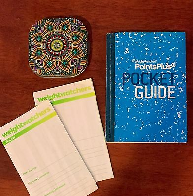 Weight Watchers PointsPlus CALCULATOR, POCKET GUIDE & 2 TRACKERS. GREAT ITEMS!