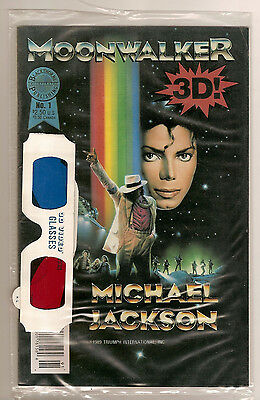 Moonwalker 3D Michael Jackson VF+/NM & SEALED with Glasses! Ultra Rare! 1989