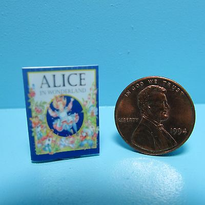 Dollhouse Miniature Replica of Book Disneys Alice in Wonderland ~ B002