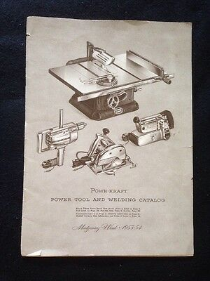 1953-1954 Montgomery Ward Powr-Kraft Power Tool~Saw~LoganLathe~Shopsmith~Catalog