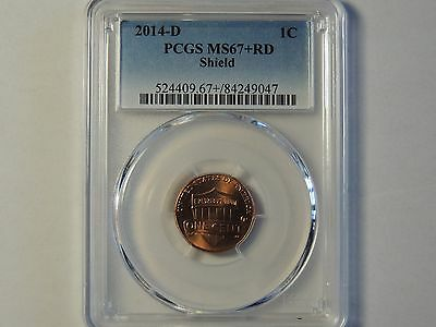 2014 PCGS MS67+ RD Shield Lincoln Penny