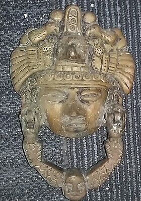 Unique Door Knocker made in Mexico Mayan themed very unusual.  One of a kind.
