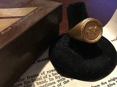 Vintage Gold Byzantine Clasped Hands Ring - Alva Museum Replicas - Wedding Band