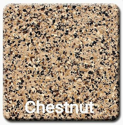 """20 lbs - Decorative Color Flake Chips for Epoxy Floor Coatings, Chestnut 1/4"""""""