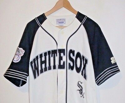 Mens Vintage Starter Chicago White Sox Baseball Jersey Shirt Size Small