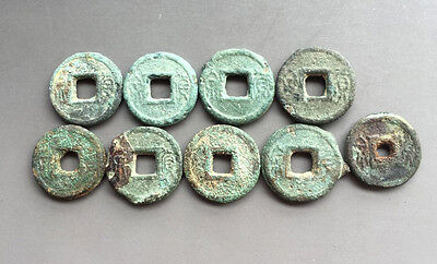 A.D 8's Han DY Wang Mang Period Huo Quan Thick Biscuit Coins