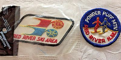 Lot of 2 Vtg Red River New Mexico Ski Patches Powder Puff Mt Ski Area New USA