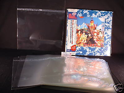 """12"""" LP Outer Sleeves RESEALABLE Japan Made 50 Micron THICK Custom SelectSleeves"""