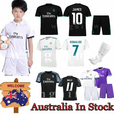 16-2018 Football Jersey Short sleeve Soccer Kits kids Sportswear Suit+Socks Set