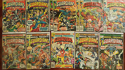 Marvel Presents 3 4 5 6 7 8 9 10 11 12 Guardians Of The Galaxy Run 12 BOOK LOT