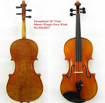 Exceptional 16'' Viola Surprisingly Exceptional Sound Master's Own Work W6,2017