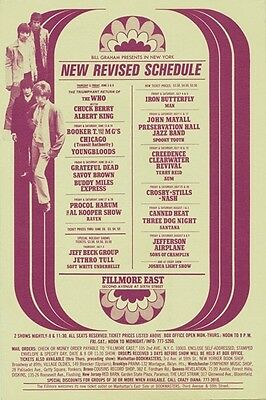 Fillmore East 1969 Mailed Handbill w/the Who, Grateful Dead