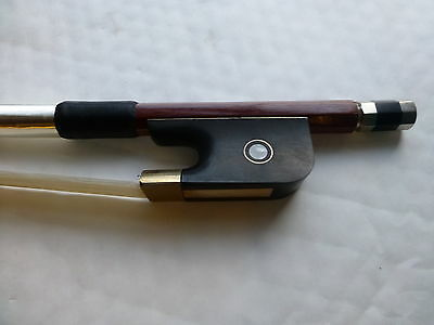 Double Bass Bow, Fine Quality Brazilwood, Pearl Eyes, Great Balance, Uk Seller