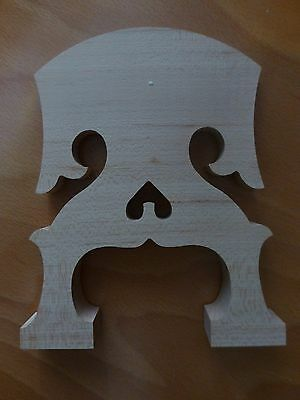 Baroque Style Double Bass Bridge, 3/4, Rare New Model, Aged Maple, Uk Seller