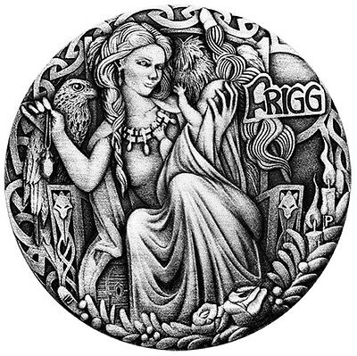 2017 Norse Goddesses Frigg 2oz Silver Antiqued High Relief Coin Antique