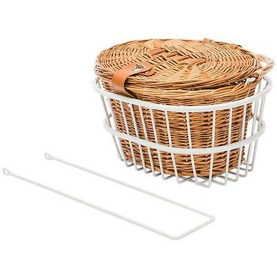Reid Standard Vintage Premium Bike Bicycle Basket Kit in White