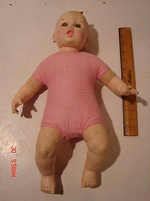 Vintage Gerber Baby Boy Doll Googly Eyes Move Side To Side Vinyl Arms Legs