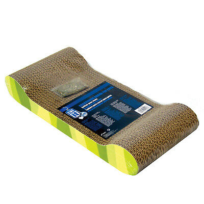 Catit Catnip Style Scratcher Lounger With Jungle Stripe For Cats Kittens Card...