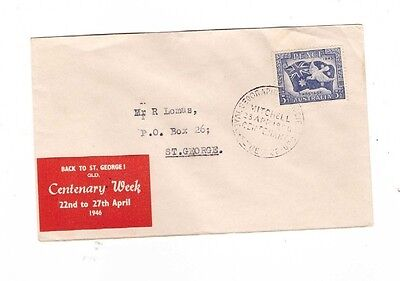 """Australia 1946 Peace on """"BACK to ST GEORGE"""" Cover"""