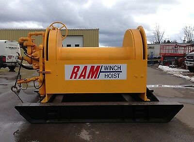 RAM Winch Hoist 10 Ton Pull (Full Drum), Skid-Mounted