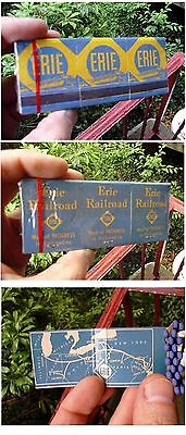 6-pack~Erie Railroad match books~matchbooks~matches~route map~streamlined train