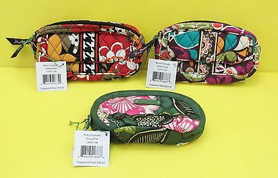 Retired Vera Bradley LOT: Bittersweet Plum Crazy Olivia Pink COSMETIC BAG - NWT
