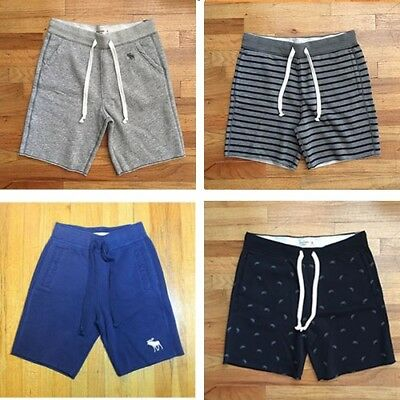 New Abercrombie & Fitch Mens Athletic Cotton Fleece Shorts MSRP $50 NWT