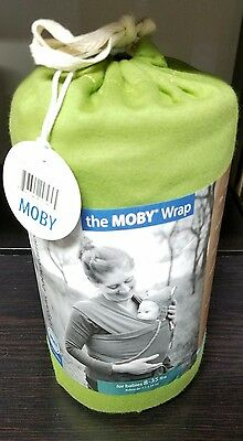 Moby Wrap Baby Carrier, Organic Snowpea - New & Authentic