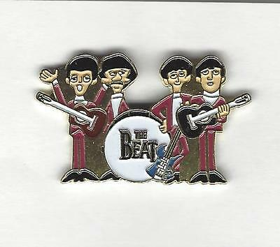 """The BEATLES 1 1/2"""" Hat Pin  red Suits with Drum"""