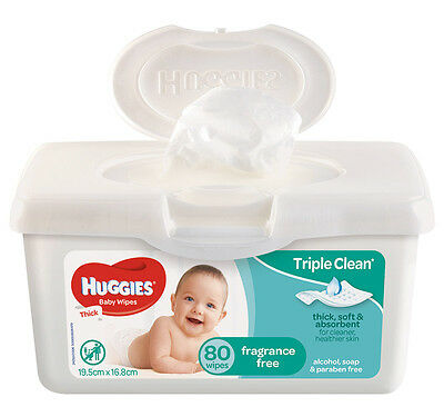 Huggies Baby Wipe Tub - 80 Unscented
