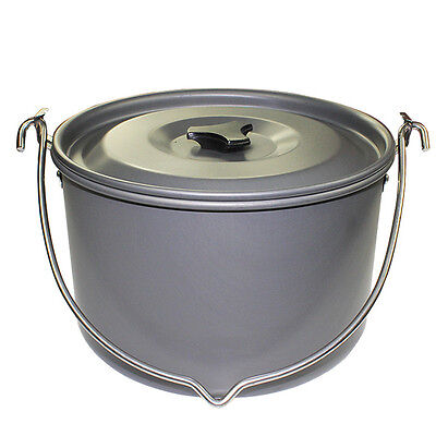 6-8 Person Camping Outdoor Cookware Cooking Picnic 5L Large Pot Hiking 7851HC