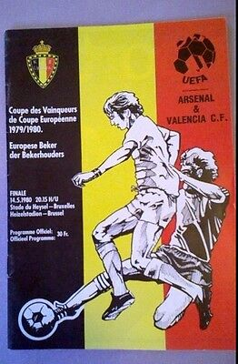1980 UEFA Cup Final - Arsenal v Valencia - Played at Hysel Stadium Belgium