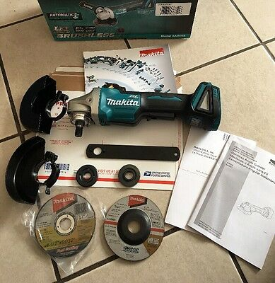 "Makita XAG06Z 18V Brushless 4-1/2"" Right Angle Grinder Paddle Switch NIB Retail"