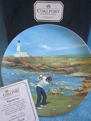COALPORT china GOLFING CLASSICS - TURNBERRY collectable 27.5cm DISPLAY PLATE