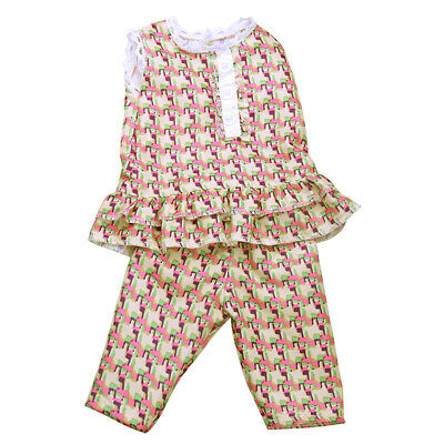 Doll Clothes Sleeveless Top +Pants Fit for 18'' American Girl My Life Dolls