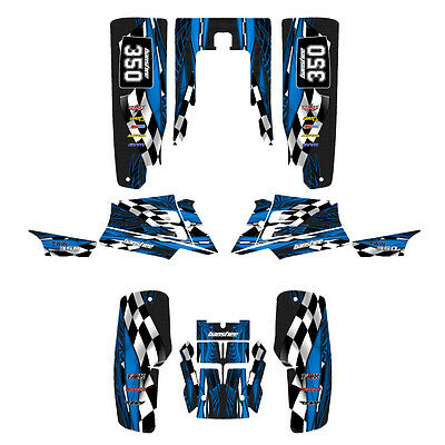 Yamaha Banshee graphics full coverage decal sticker kit  #3500 Blue