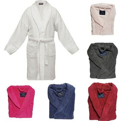 NEW HOTEL DELUXE 100% Egyptian Cotton Terry Towelling Bath Robe 500gsm Unisex